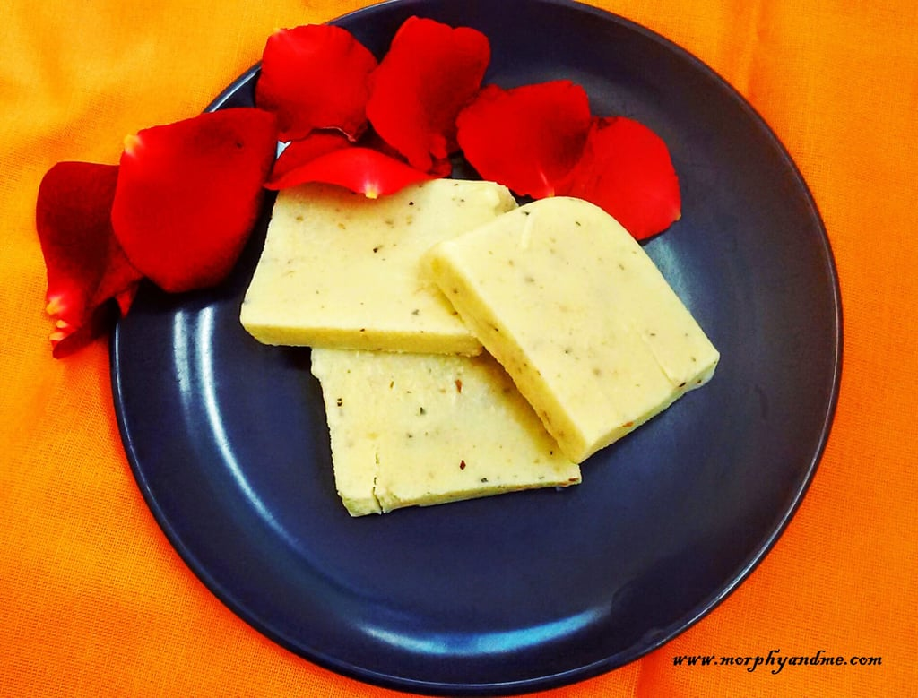 Almond and Fox seed Kulfi Slices