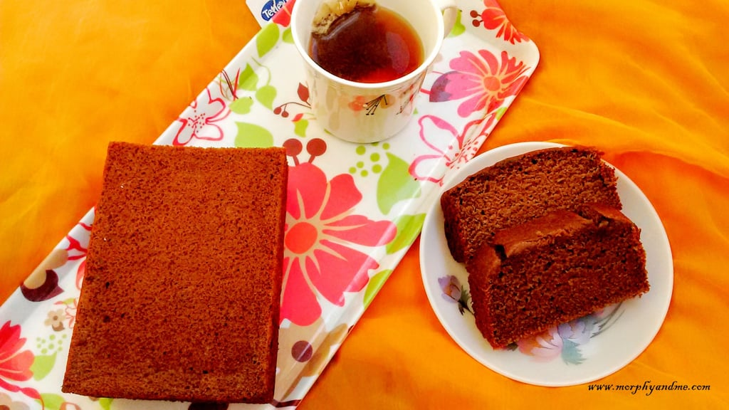 A moist whole wheat chocolate banana loaf cake. This eggfree banana cake flavoured with a dash of cinnamon is perfect as a tea time snack