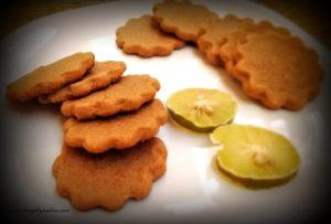 Tangy Crisp 3 Ingredient Lemon Tea Cookie. These tea time biscuits make a yummy snack and are super easy to bake.