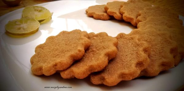 Tangy Crisp 3 Ingredient Lemon Tea Flavour Cookies. These tea time biscuits make a yummy snack and are super easy to bake.