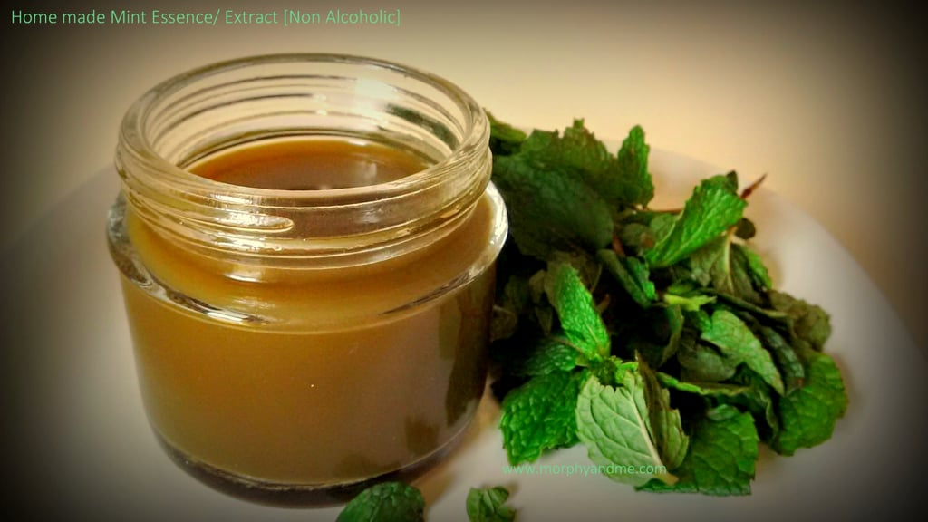 Home Made Non -Alcoholic Mint Extract/Essence