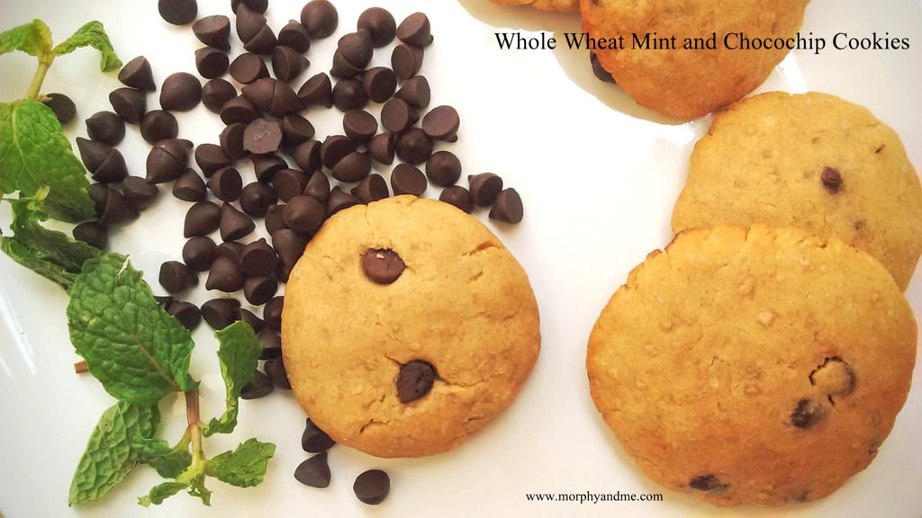 Whole Wheat Mint And Chocochip Cookies