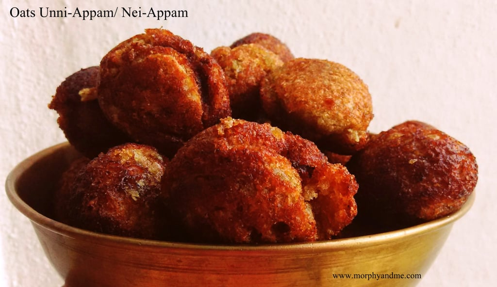 10 Minute Oats Unni-Appam/ Nei Appam