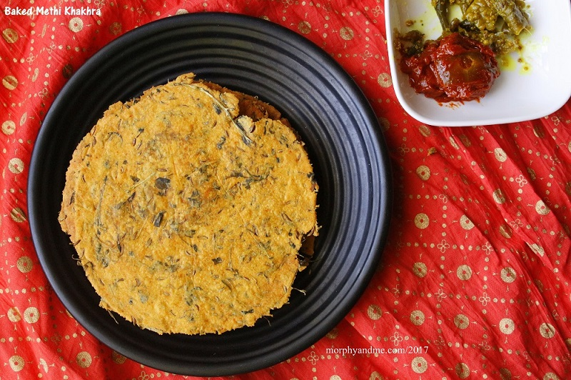 Baked Methi Khakhra -Traditional Gujarati Snack