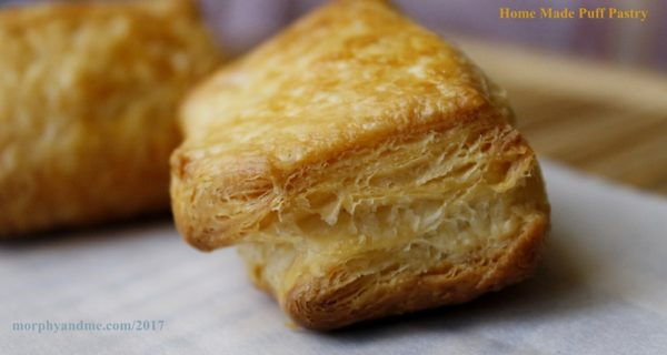 Buttery flaky puff pastry from scratch. Making your own puff pastry can be quite satisfying. You can use it in a variety of savoury and sweet bakes.