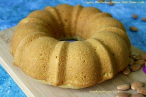 Eggless whole wheat almond milk cake -A moist and flavourful snack cake .This 'badam milk' bundt cake is wholesome and absolutely yum.
