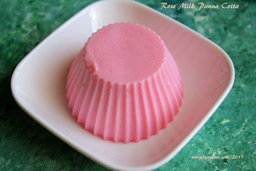 Rose Milk Panna Cotta [Eggfree and Vegetarian Dessert]