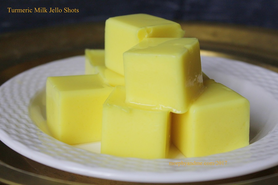 Turmeric Milk Jello Shots [Vegetarian]
