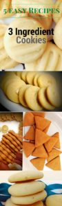 5 Easy Cookie Recipes - These '3 ingredient recipes' make baking cookies a breeze. From crumbly melt in the mouth to tangy lemon cookies you have it all.