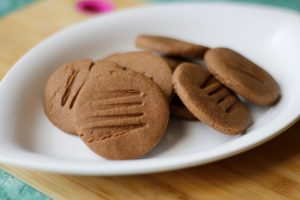 Yummy millet flour cookies. I love ragi chocolate cookies and these chewy healthy cookies made with jaggery and a mix of millet flours taste divine