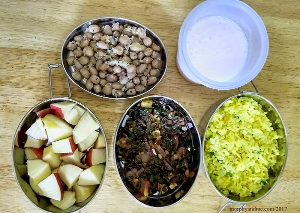 Lunchbox Ideas- 2 | Groundnut Sundal, Lemon Rice and More