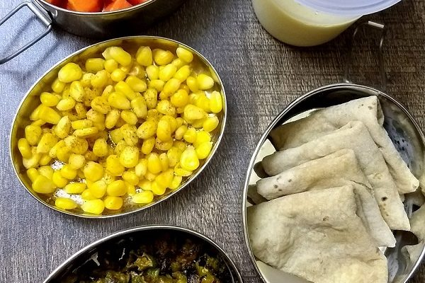 Lunchbox Ideas-3 | Boiled Corn, Mango Lassi and More