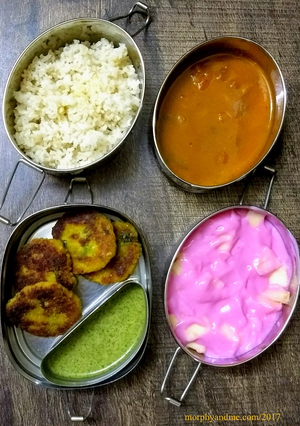Lunchbox Ideas 8 : Rajma Chawal, Fruit Custard And More