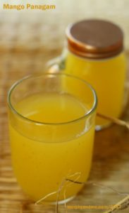 Mango panakam is a delicious sweet and tangy summer cooler. This soothing drink is prepared with raw mangoes and jaggery as the main ingredients