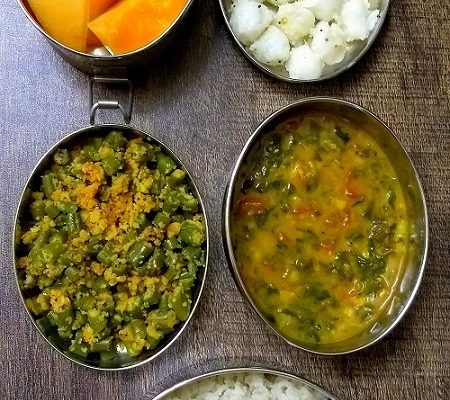 Lunchbox Ideas 18: Paruppu Usli, Methi Sambar And More