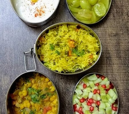 Lunchbox Ideas 14: Ghugni, Veg Pulao And More