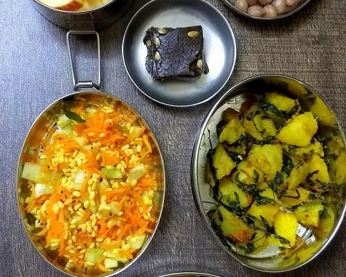 Lunchbox Idea 21: Buckwheat Burfi, Aalu Methi And More