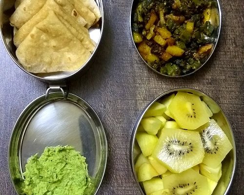 Lunchbox Idea 22: Oats Chilla, Ridge Gourd Chutney And More