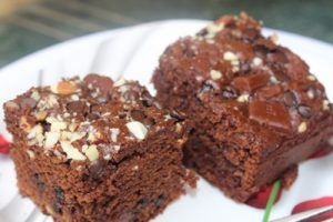 "A super chocolaty super ""Rich Chocolate Cake"" , every mouthful is a bite of heaven. A wholewheat and barley flour based cake for every chocolate lover."
