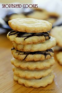 Shortbread Cookies: Eggfree delicious melt in the mouth butter cookies with just three basic ingredients served  topped with lemon glaze and dark chocolate